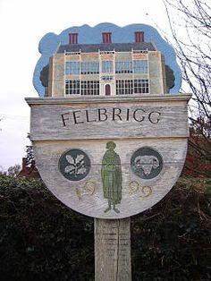Felbrigg Village sign, Norfolk, England