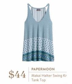I know I already have this top (white with pink flowers) but, I love it SOMUCH that I need it in this color/print too!