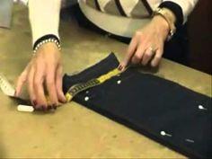 Accorciamo il jeans mantenendo l'orlo originale! - YouTube Sewing Studio, Love Sewing, Sewing Techniques, Needle And Thread, E Design, Sewing Hacks, Fabric, Jeans, Youtube