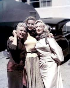 Betty Grable, Lauren Bacall, and Marilyn Monroe (1953)
