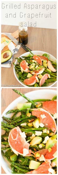 Grilled asparagus & grapefruit salad via www.betrulynourished.com