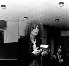 Marc Bolan at the Rosenberg Studio in Copenhagen, March 1972. Photo by Jorgen Angel.