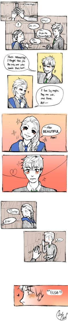 [Lime-Hael Hogwarts AU] ep 1 (Jelsa) by Lime-Hael on DeviantArt