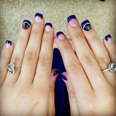 Marine nails; ring finger is the dress blues