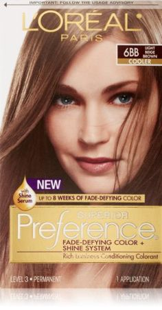 LOreal Paris Superior Preference Hair Color 6BB Light Beige Brown >>> More info could be found at the affiliate link Amazon.com on image.