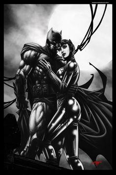 Batman & Catwoman by Johnny Desjardins by Maiden11976