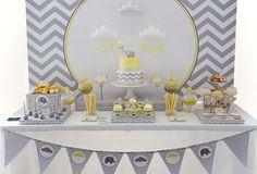 Tema para festa de menino - Bebê elefante - Se você tem um filho de 1 ano, o tema de bebê elefante ficaria super fofo para uma festa de aniversário! Você pode usar tons bem claros e vários elefantes pequenos!