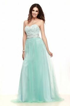 Sexy Sweetheart Backless Tulle A Line Green Long Prom Dress Persun