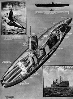 Japanese two men submarine