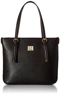 Anne Klein Perfect Tote Small Shopper, Black, One Size