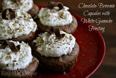 Busy Mom's Helper: Family fun, food, recipes and crafts.: Chocolate-Brownie Cupcake with White Ganache Frosting
