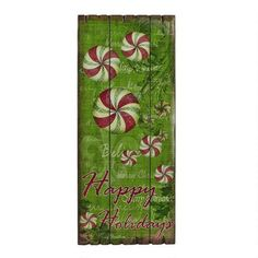 One of my favorite discoveries at ChristmasTreeShops.com: Happy Holidays Slat Wood Christmas Art