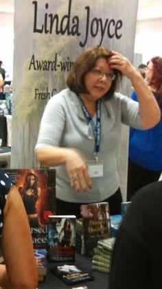 Linda Joyce in Charlotte, NC for the 2016  NC Book Fair.
