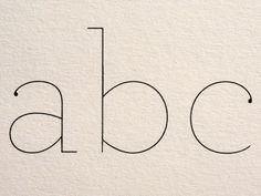 #type #clean #style #typeface #design #print #letters
