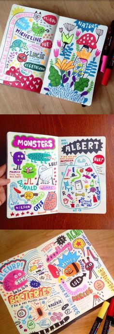 Elise Gravel illustration • My sketchbook • doodles • art • journal • drawing • Posca • marker • fun • Sharpie: