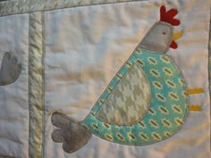 Cluck Cluck Table Runner with four by nonnichicksplayhouse on Etsy