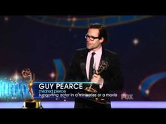 Guy Pearce wins an Emmy for Mildred Pierce at the 2011 Primetime Emmy Awards! Uploaded by tothandrei on Sep 19, 2011    At last he gets some recognition!