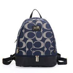 Coach Logo Monogram HW303 Backpack In Blue