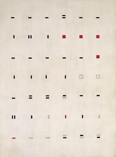"""THE DAILY PIC (#1528): """"Serial Composition"""", by the Argentine artist Lidy Prati, is just the kind of systematic, conceptual abstraction New York was keen on in the early 1970s. Thing is, it was actually painted somewhere around 1948. That's the kind..."""