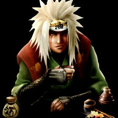 The Toad Man Jiraiya ( naruto )  :Available as Cards, Prints, Posters, T-Shirts & Hoodies, Kids Clothes, Stickers, iPhone & iPod Cases, and iPad Cases