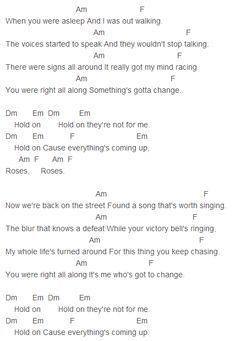 Keira Knightley - Coming Up Roses Chords Capo 1