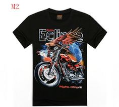Summer High quality 3d Harley Motorcycle And Eagle Printed T Shirt Cotton Short Sleeve O-Neck T-shirt Men S -XXL