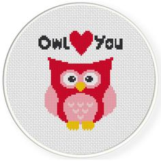 Charts Club Members Only: Owl Love You Cross Stitch Pattern