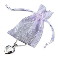 Engraved Silver Heart Locket