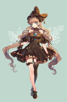 Girls Characters, Fantasy Characters, Female Characters, Anime Characters, Anime Art Girl, Manga Girl, Anime Chibi, Kawaii Anime, Character Design References