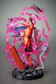 """Marvel HeroClix Giant Size X-Men #53 Magneto  """"Magneto""""(マグニートー)本名エリック・マグナス・レーンシャー、ホロコーストの生き残り、磁力を自由に操る""""磁界王""""最強のミュータントの一人。"""