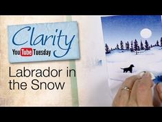 How to make a Labrador in the Snow dimensional card using inkpads