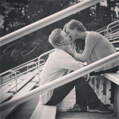 @Adrianne Johnson Photography Beautiful high school sweetheart engagement shot!