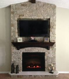 Stone On Fireplace stone fireplace with tv | stone on fireplace with tv mounted over