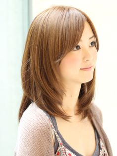 Pin on Things to Wear Haircuts For Medium Length Hair, Medium Long Hair, Long Layered Hair, Medium Hair Cuts, Long Hair Cuts, Medium Hair Styles, Short Hair Styles, Japanese Haircut, Japanese Hairstyle