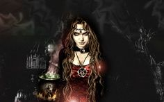 Fantasy Witch  Wallpaper