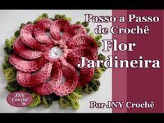 Passo a Passo de Crochê Flor Jardineira por JNY Crochê - YouTube