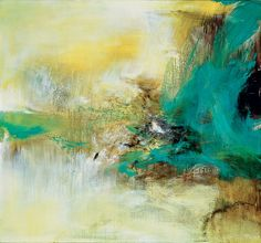 "Zao Wou-Ki - ""When Zao paints objects in nature, they don't necessarily look like objects in nature. Even his most abstract paintings can be rooted in observations of nature,"" observes Elizabeth Upper. Abstract Painters, Abstract Landscape, Abstract Images, Abstract Art, Collages, Chinese Painting, Art Plastique, Asian Art, Abstract Expressionism"