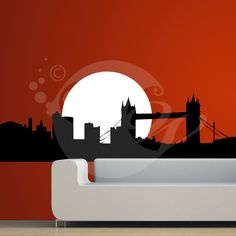 With this London Bridge Wall Sticker Decal you can decorate your walls in one of the most modern and elegant ways
