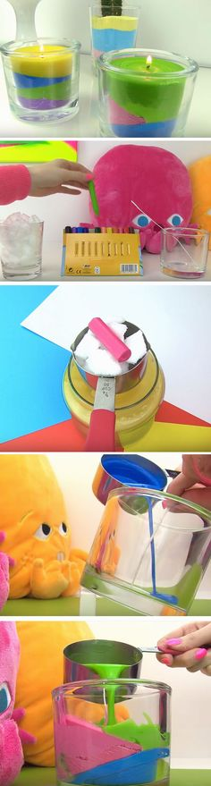 Multicolored Candles | Click Pic for 20 Cool DIY Projects for Teen Girls Bedrooms | Easy Crafts for Teen Girls to Make