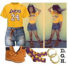 Lakers, #24., created by dopegenhope on Polyvore