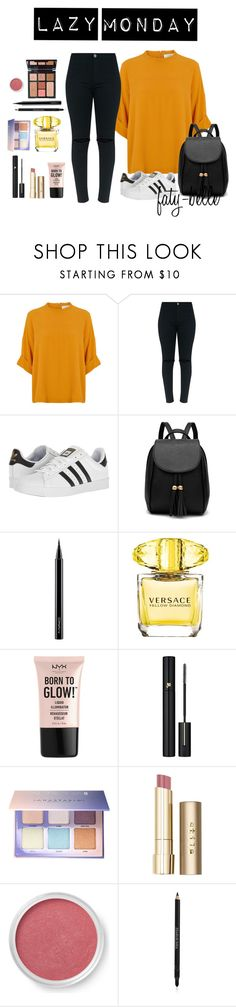 """""""LAZY MONDAY"""" by faty-belle ❤ liked on Polyvore featuring adidas, Charlotte Tilbury, MAC Cosmetics, Versace, NYX, Lancôme, Anastasia Beverly Hills, Stila, Bare Escentuals and Elizabeth Arden"""