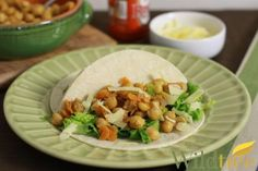 A Meatless Taco (vegetarian) with All-Natural Wildtree Ingredients - www.HealthyRecipesQuick.com -  Buffalo Chick Pea Tacos