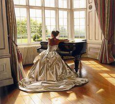 24 Mind Blowing Glamorous Oil Paintings by Famous Artist Rob Hefferan. Follow us www.pinterest.com/webneel