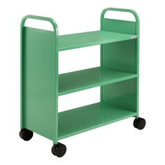 """Smith System Flat Shelf Book Truck - Three Shelves (36"""" W x 18"""" D x 43"""" H) at School Outfitters"""