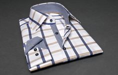 NON FITTED Checkered Shirt Navy & Yellow (#frenchflair $86.90