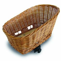 Amazon.com: Basil Pasja Animal Rear Mount Basket for Bicycles, Natural Wicker: Sports & Outdoors