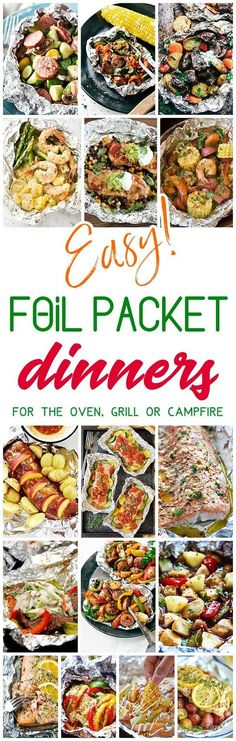 Easy Tin Foil Packets Dinners Recipes - Easy meal prep and easy, quick clean up! So many delicious chicken, beef, salmon, pork, shrimp and chicken tin foil packet dinners you and your family can enjoy making in the oven all year long, throwing on the back http://grillidea.com/how-to-use-a-gas-grill-for-the-first-time/