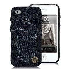 Para quem não vive sem o seu jeans, agora já tem capa para iPhone 4 feito pelo seu velho e bom jeans. Além de proteger é super original.