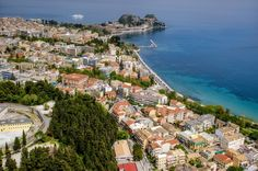 Corfu Town: the promenade of Garitsa and the Old Fortresss