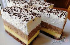 Slavnostní krémové řezy se sušenkami | NejRecept.cz Tiramisu, Cheesecake, Sweets, Ethnic Recipes, Desserts, Mascarpone, Bakken, Tailgate Desserts, Deserts